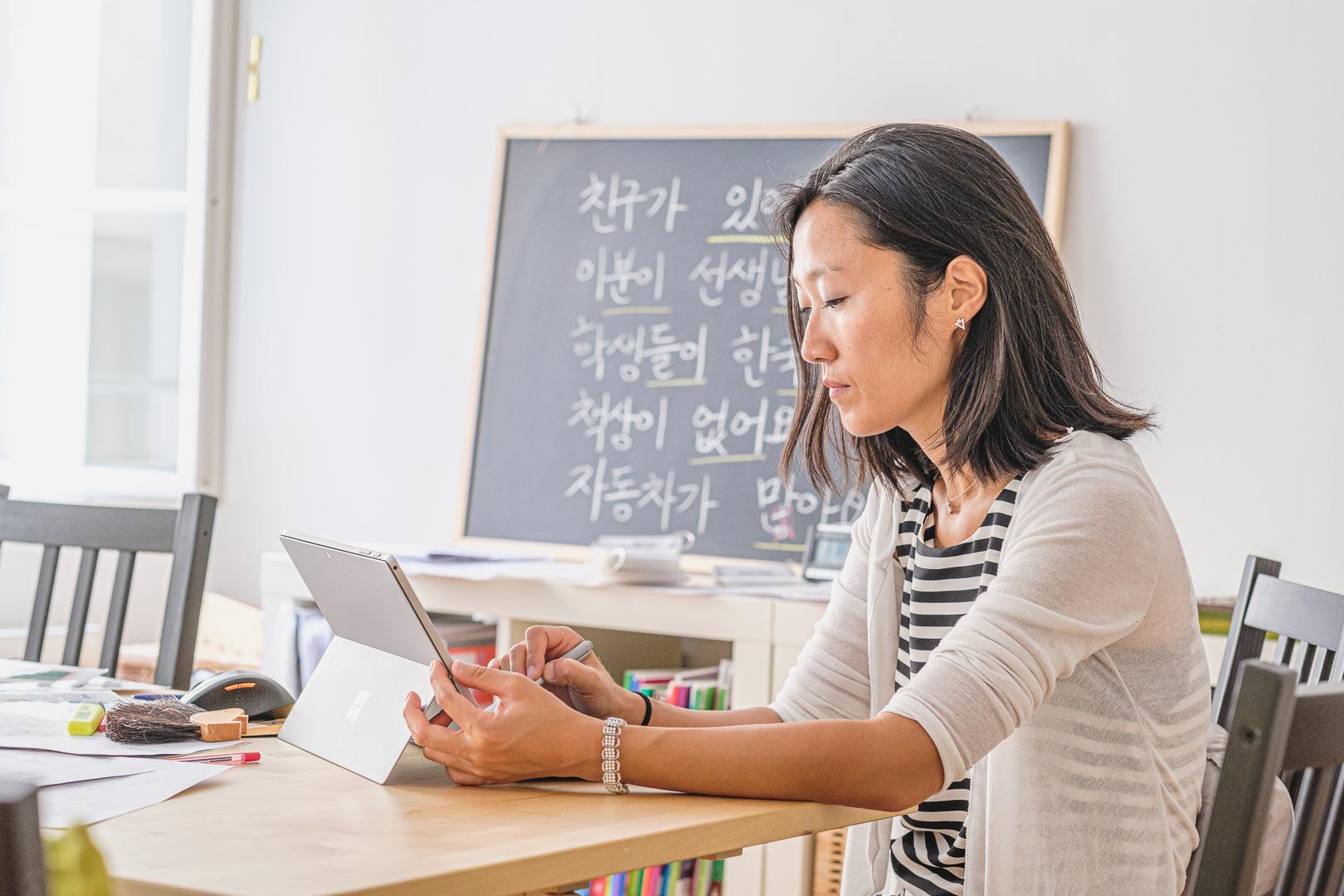 Hyunok Jang unterrichtet den Online Koreanischkurs