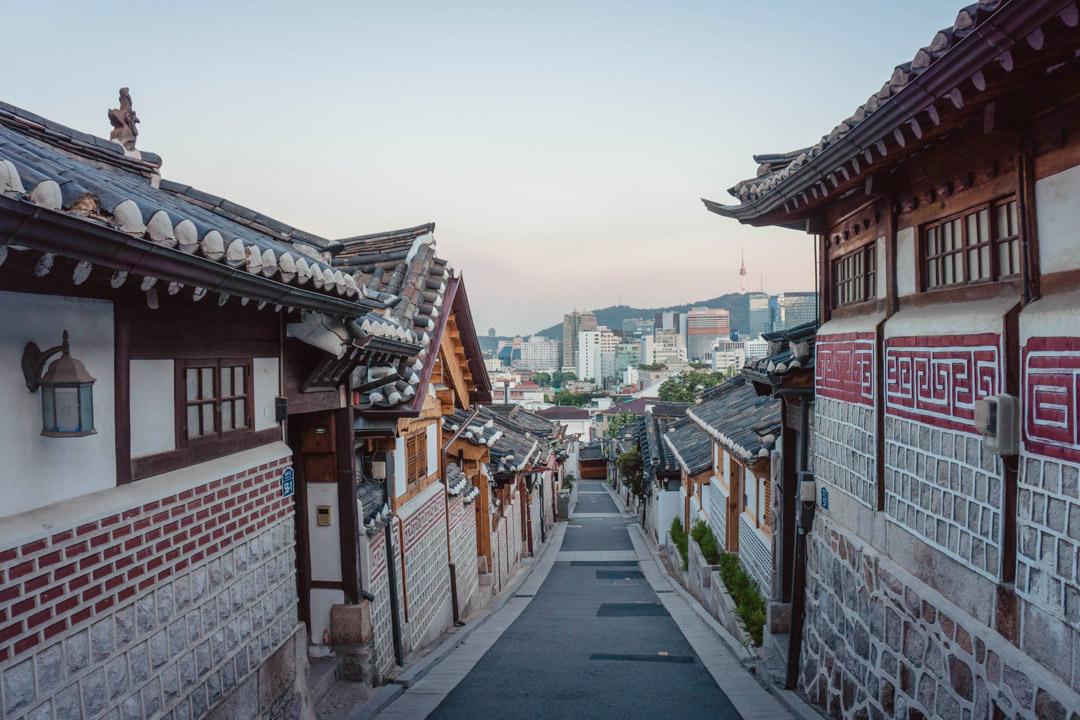 Bukchon Village Korea Reise als Grund Koreanisch zu Lernen